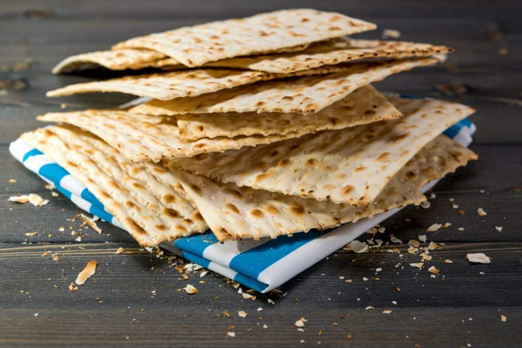 Matzah-On-A-Table-Cloth