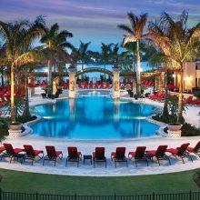 PGA pool- Red Lounge Chairs