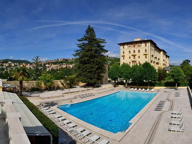 Outdoor pool at Grand Hotel Palazzo Della Fonte